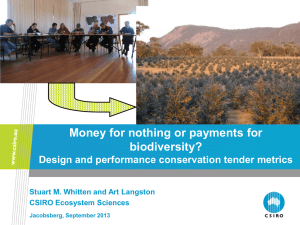 Money for nothing or payments for biodiversity?