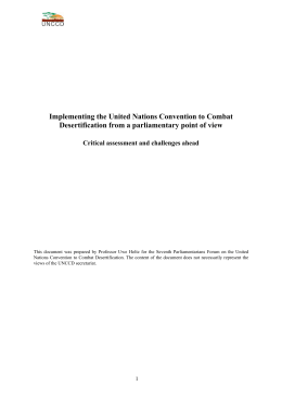 Implementing the United Nations Convention to Combat