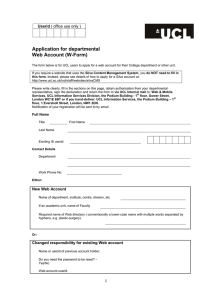 Application for departmental Web Account (W-Form)