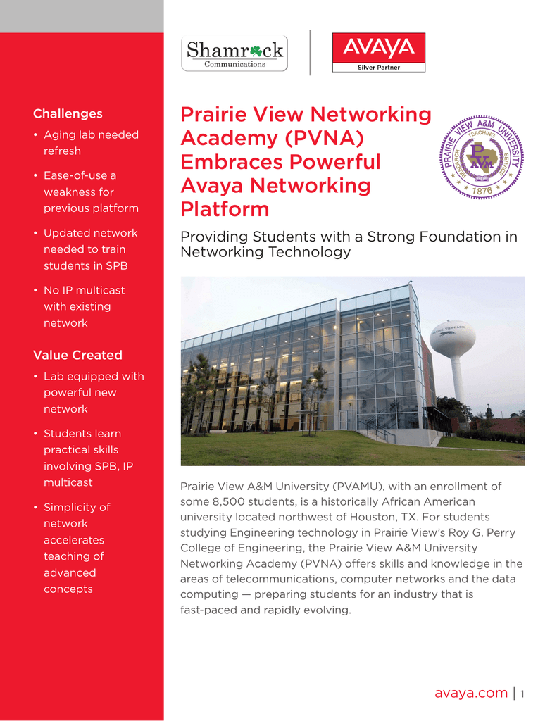 Prairie View Networking Academy (PVNA) Embraces Powerful