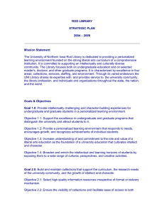 ROD LIBRARY STRATEGIC PLAN – 2009 2004