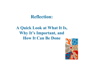 Reflection: A Quick Look at What It Is, Why It's Important, and