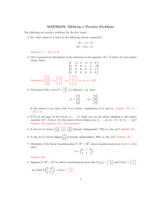MATH2270: Midterm 1 Practice Problems