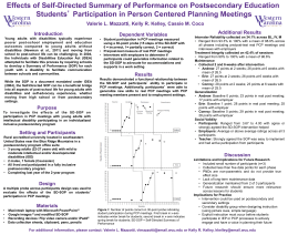 Effects of Self-Directed Summary of Performance on Postsecondary Education