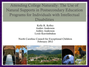 Attending College Naturally: The Use of Natural Supports in Postsecondary Education