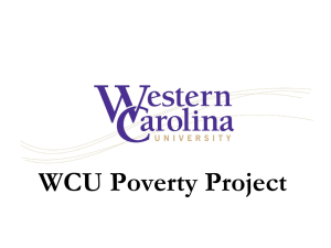 WCU Poverty Project