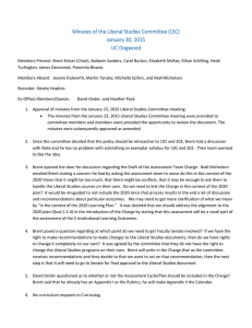 Minutes of the Liberal Studies Committee (LSC) January 30, 2015 UC Dogwood