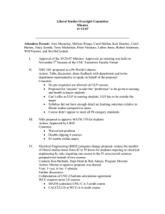 Liberal Studies Oversight Committee Minutes 11-12-07