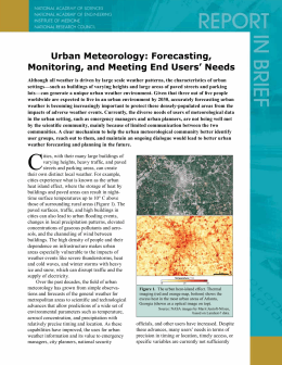 Urban Meteorology: Forecasting, Monitoring, and Meeting End Users' Needs