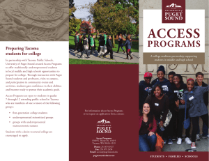 ACCESS PROGRAMS Preparing Tacoma students for college