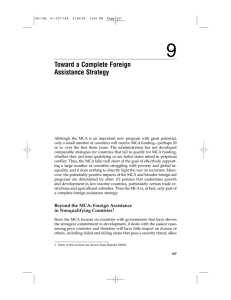 9 Toward a Complete Foreign Assistance Strategy
