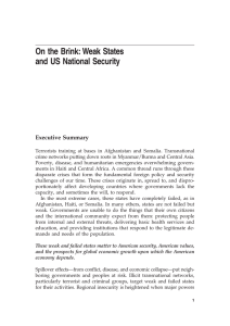 3 On the Brink: Weak States and US National Security Executive Summary
