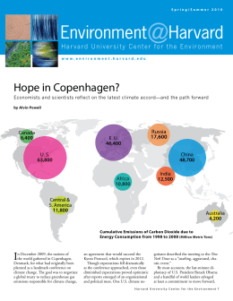 @ Environment Harvard Hope in Copenhagen?