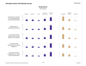 Cherokee Center Unit Review Survey  Respondents Services Used