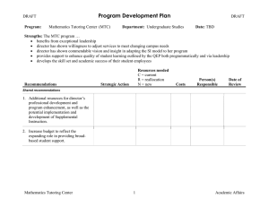 Program Development Plan