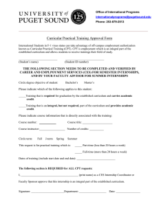 Curricular Practical Training Approval Form