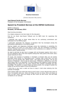 Speech by President Barroso at the ESPAS Conference [C A D
