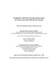 Evaluation Criteria for Faculty Advancement of Tenure-Line and Clinical-Line Facult