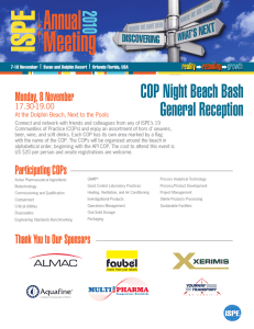 COP Night Beach Bash General Reception Monday, 8 November