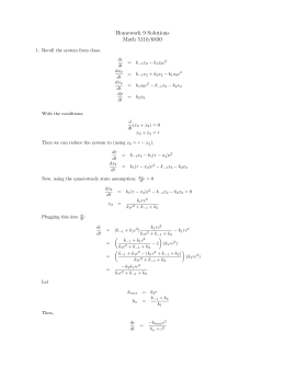 Homework 9 Solutions Math 5110/6830