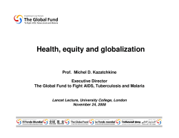 Health, equity and globalization