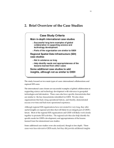 2.  Brief Overview of the Case Studies Case Study Criteria