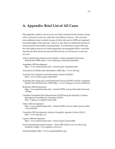 A. Appendix: Brief List of All Cases