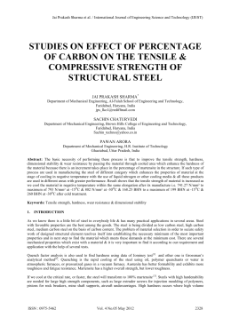 STUDIES ON EFFECT OF PERCENTAGE OF CARBON ON THE TENSILE &