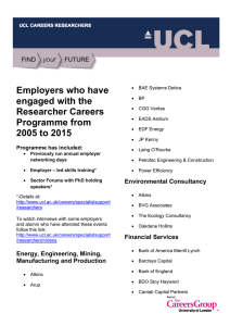 Employers who have engaged with the Researcher Careers Programme from