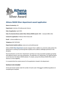Athena SWAN Silver department award application