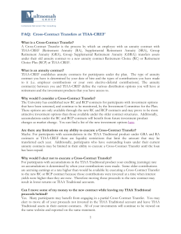 FAQ:  Cross-Contract Transfers at TIAA-CREF