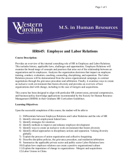 HR645:  Employee and Labor Relations