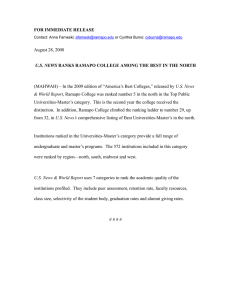 FOR IMMEDIATE RELEASE August 28, 2008 U.S. News