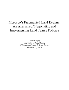 Morocco's Fragmented Land Regime: An Analysis of Negotiating and