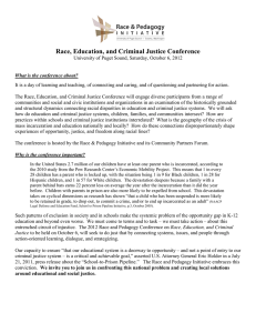 Race, Education, and Criminal Justice Conference