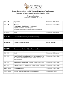 Race, Education, and Criminal Justice Conference Program Schedule