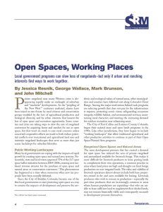 Open Spaces, Working Places