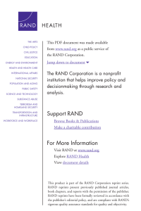 6 The RAND Corporation is a nonprofit from