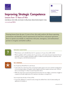 Improving Strategic Competence Lessons from 13 Years of War