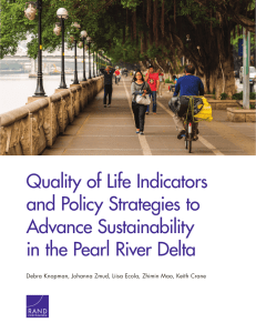 Quality of Life Indicators and Policy Strategies to Advance Sustainability