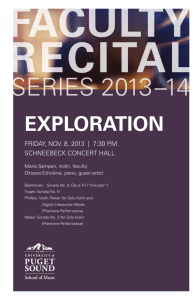 FACULTY RECITAL SERIES 2013–14 EXPLORATION
