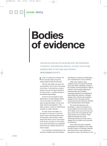 Bodies of evidence cover story
