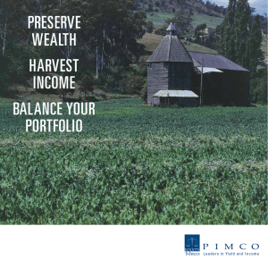 Pre Wealth harvest income