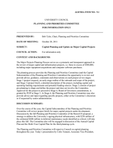 UNIVERSITY COUNCIL AGENDA ITEM NO:  9.1 PLANNING AND PRIORITIES COMMITTEE