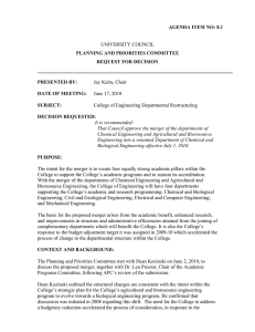 UNIVERSITY COUNCIL AGENDA ITEM NO: 8.1 PLANNING AND PRIORITIES COMMITTEE