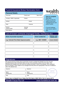 Fund & Insurance Broker Nomination form Personal Details How to complete this form