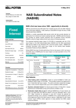Fixed NAB Subordinated Notes (NABHB)
