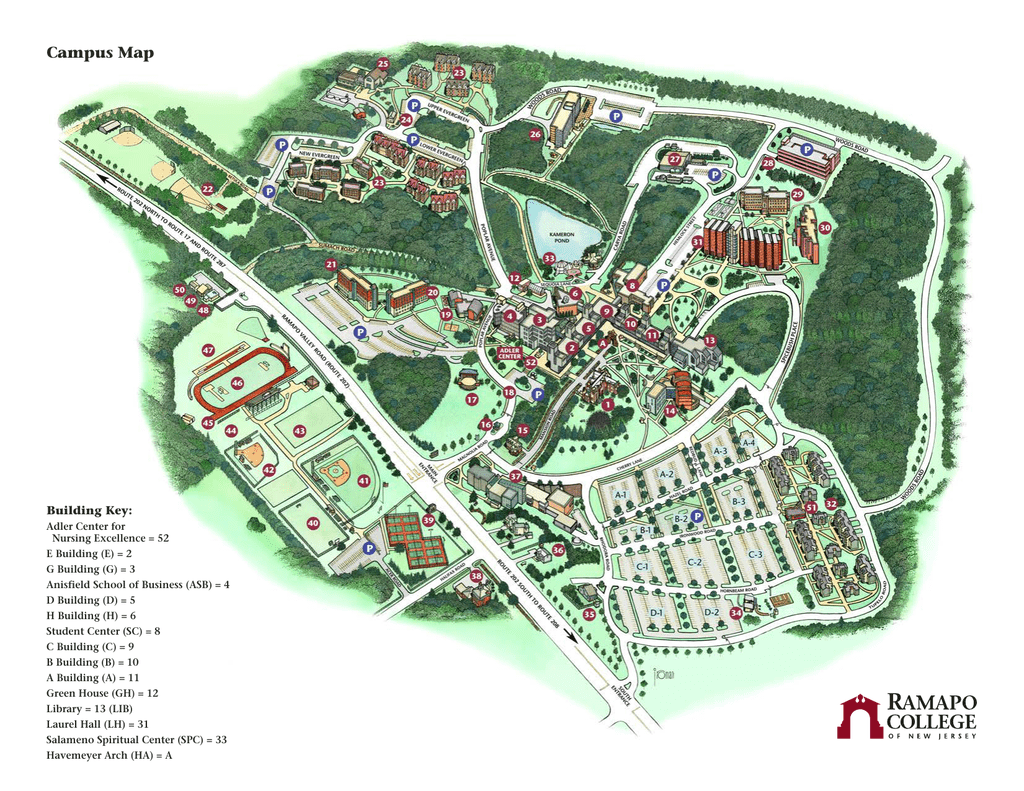 College Of New Jersey Campus Map.Campus Map Building Key