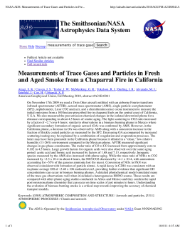 NASA ADS: Measurements of Trace Gases and Particles in Fre...