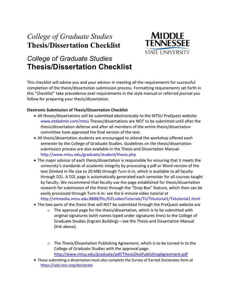 mtsu thesis and dissertation manual
